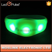 China supplier high quality multicolor sound activated led bracelet festival cheering Led flashing bracelet wristbands