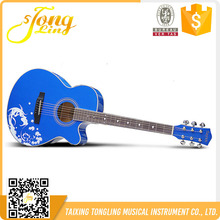 Global Tongling Musical Instrument Blue Color Guitar