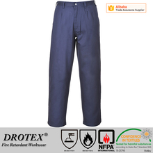 Navy blue EN 11612 high strength THPC treated fire retardant trousers