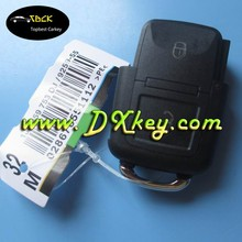 Key blanks wholesale for VW key cover 2 buttons remote car key case