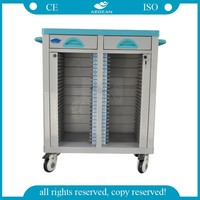 AG-CHT003 With double rows hospital patient records book cart
