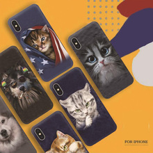 Hot selling Lovely IMD Cases cat phone back cover for iphone x , Cute cartoon pets Dog mobile phone case for iphone 8