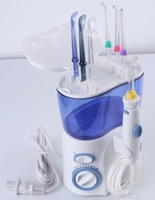 Dental Floss Type oral irrigator with long handle