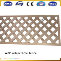 Promotional sale outdoor retractable fence, garden waterproof fence wpc, durable yard fencing wpc