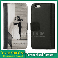Hot Sale PU Leather Case For iPhone 6, 2D Sublimation Custom Design Cell Phone Case For iPhone 6