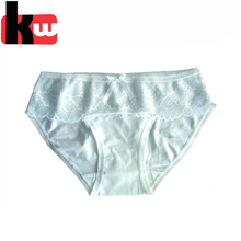 Top quality cotton white free sample women lady underwear