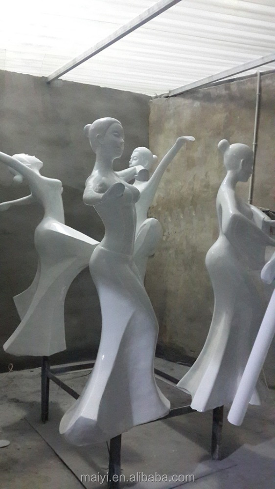 fiberglass dancer sculpture for decoration
