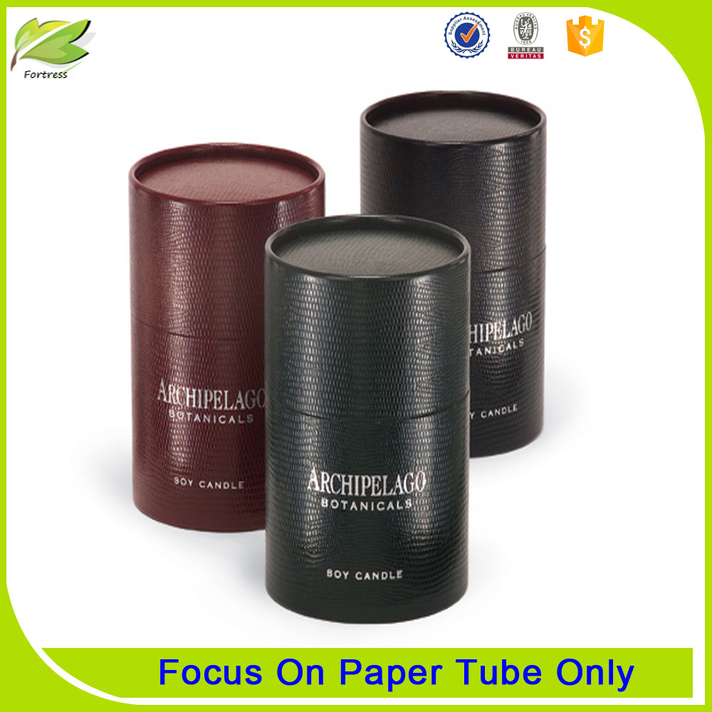 Custom Special Paper Tube for Glass Candle Packaging