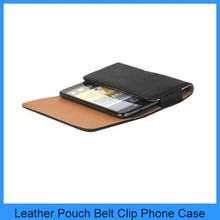 For HTC One X HTC One M7 HTC Desire 500 Black Leather Holster Pouch Case Cover Belt Clip