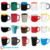 12oz matte black exterior color interior two-tone promotional ceramic coffee mug
