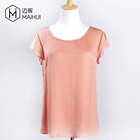 High Quality Women Garments Ladies Tank Top Ladies 100%Silk Blouse
