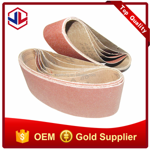 Red coated abrasive cloth sanding belt