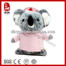 2014 plush mini animal toy cute dressed uniform koala soft toy nurse koala stuffed toy koala