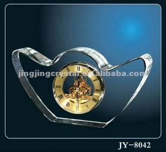New year gift Crystal time clock from China Factory on table decoration