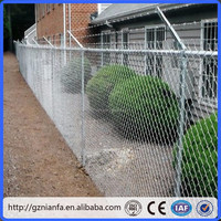 Diamond Mesh Cylcone Chain Wire Link Fencing ISO9001 Certificate(Guangzhou)