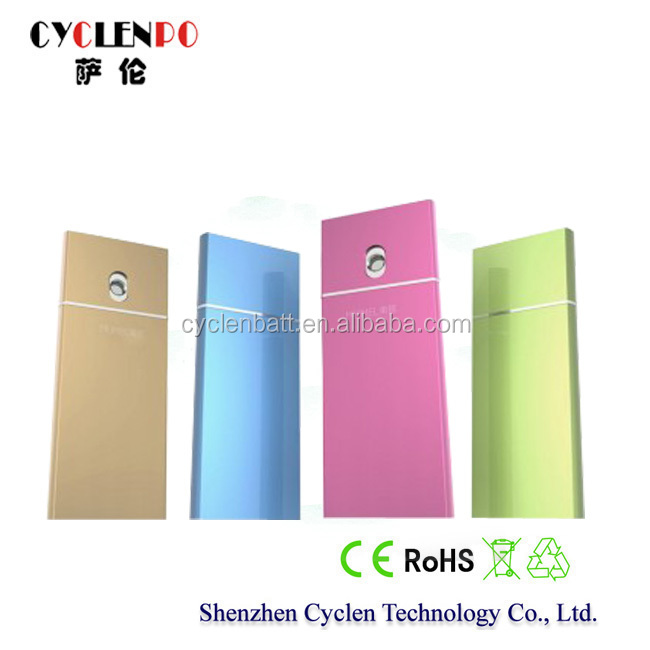best gift for ladies,cyclenpo water spray function 4000mah protable power bank lipo battery cell