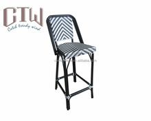 Wholesale outdoor bamboo look teslin bar chair for pub