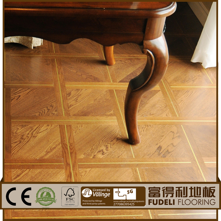 Hot Sale Quality T&G Natural Color Smooth Solid Oak parquet flooring hdf wooden laminate flooring