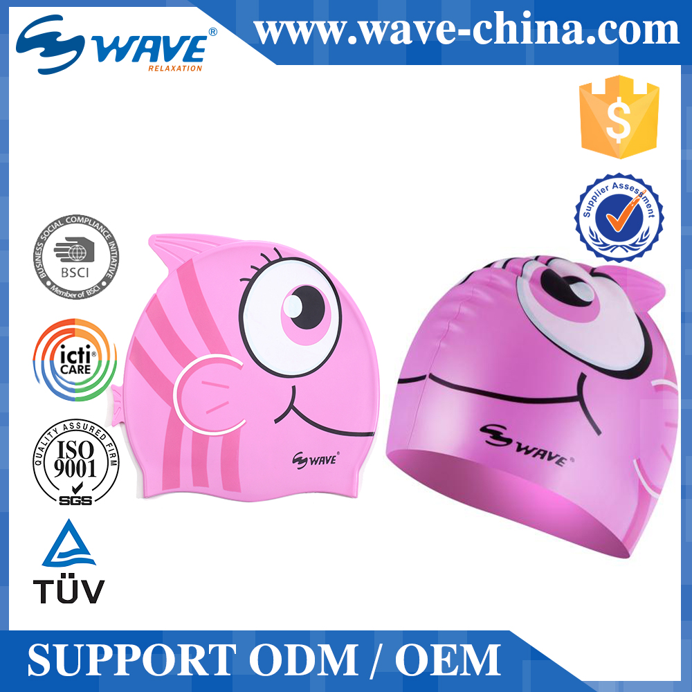 Children Silicone Swim Cap Funny Swimming Cap Silicon