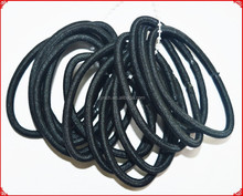 wholesale 4mm black elastic hair band with metal free