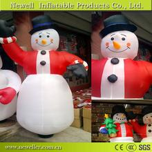 Promotional lovely inflatable chrismas snowman From China Factory