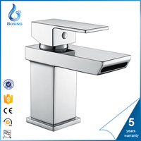 China High Quality Square Style Stainless Steel And Chrome Wash Basin Mixer