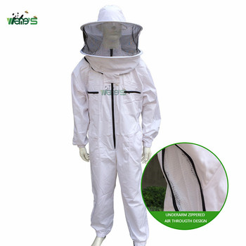 ventilated bee suit 2018 new upgrade Underarm Zippered Hat Veil ComboBeekeeping Protection Clothing ventilated bee keeping suit