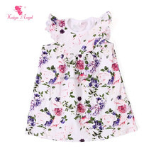 white bottom red floral children frocks designs