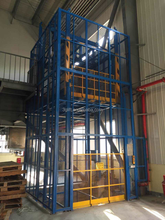China Manufacturer Vertical Rail Freight Elevator Hydraulic Cargo Lift for indoor or outdoor warehouse