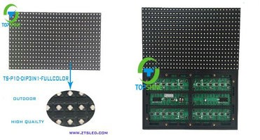 Dip rgb 3in1 P10 outdoor full color led display module for sexy movie & advertising