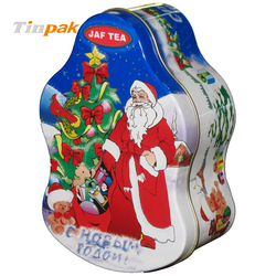 Christmas Santa tin box Gift container