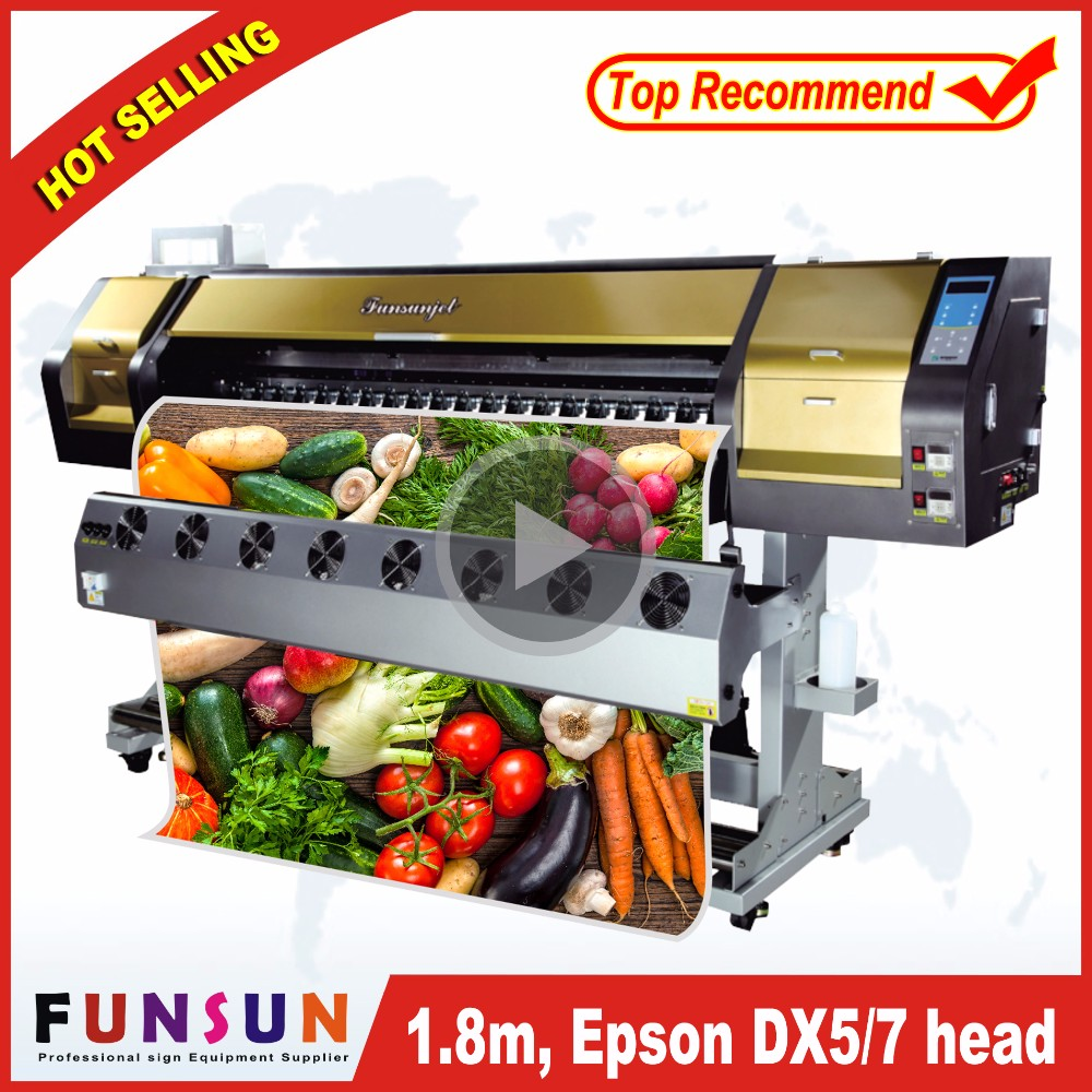 High quality 1.8m Funsunjet FS1802G /6ft vinyl cutting plotter printer with DX5 head 8 color printing plotter