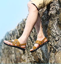 The new british style men agrafe purity light and handy comfortable ventilate casual beach slippers