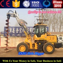 Factory Price Deepth Hydraulic Screw Earth Auger Plant Hole Digger for Tree Planting 10-12m