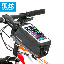 Roswheel Bikepacking Large Capacity Polyester Bicycle Bike Phone Bag Cycling Phone Pouch with PVC Screen