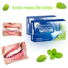 Non peroxide teeth whitening strips