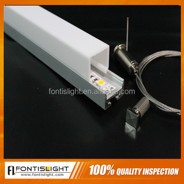 square aluminum extrusion led profile for ceiling with PMMA cover
