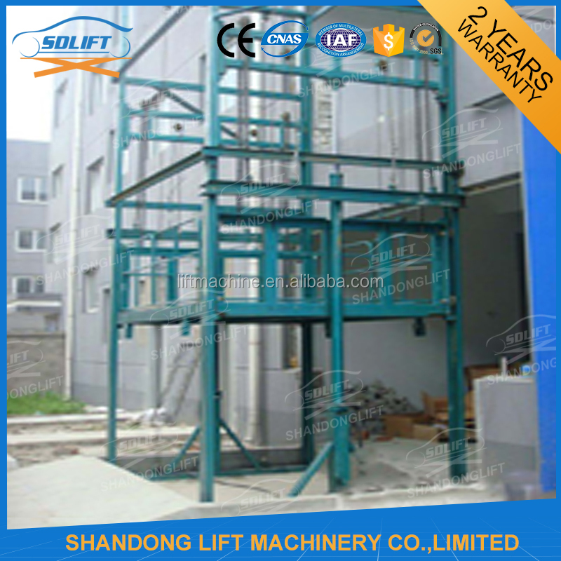Vertical lift hydraulic rail lifts/guide rail lift platform