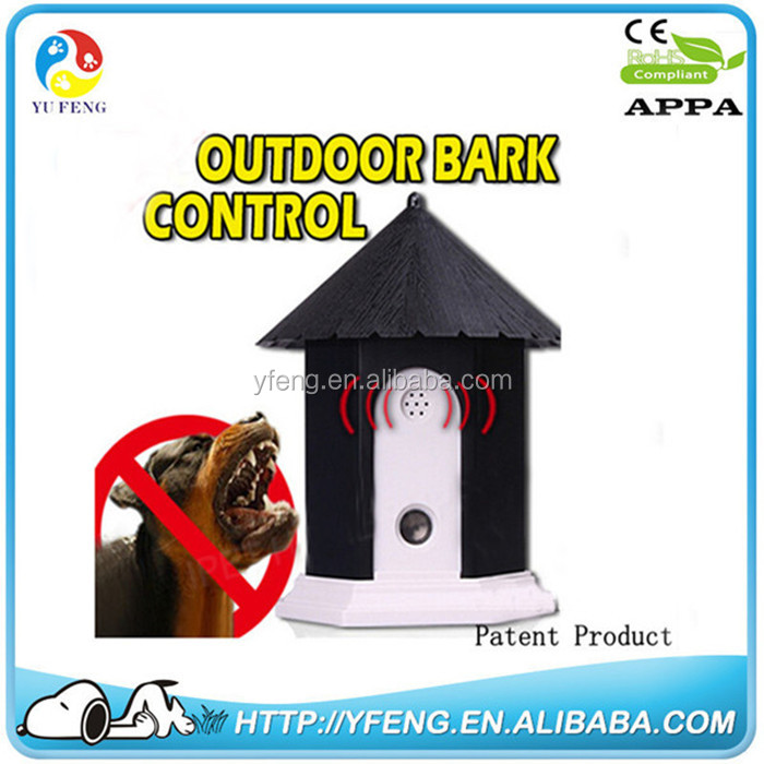 Hot Pet Products Puppy Outdoor Ultrasonic Anti Barking Control Birdhouse Bark Stop Sonic Dog repeller training Supplies Collar