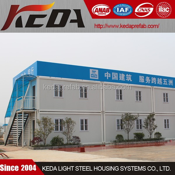 Prefabricated House Container Accommodation / Office Building Porta Cabin