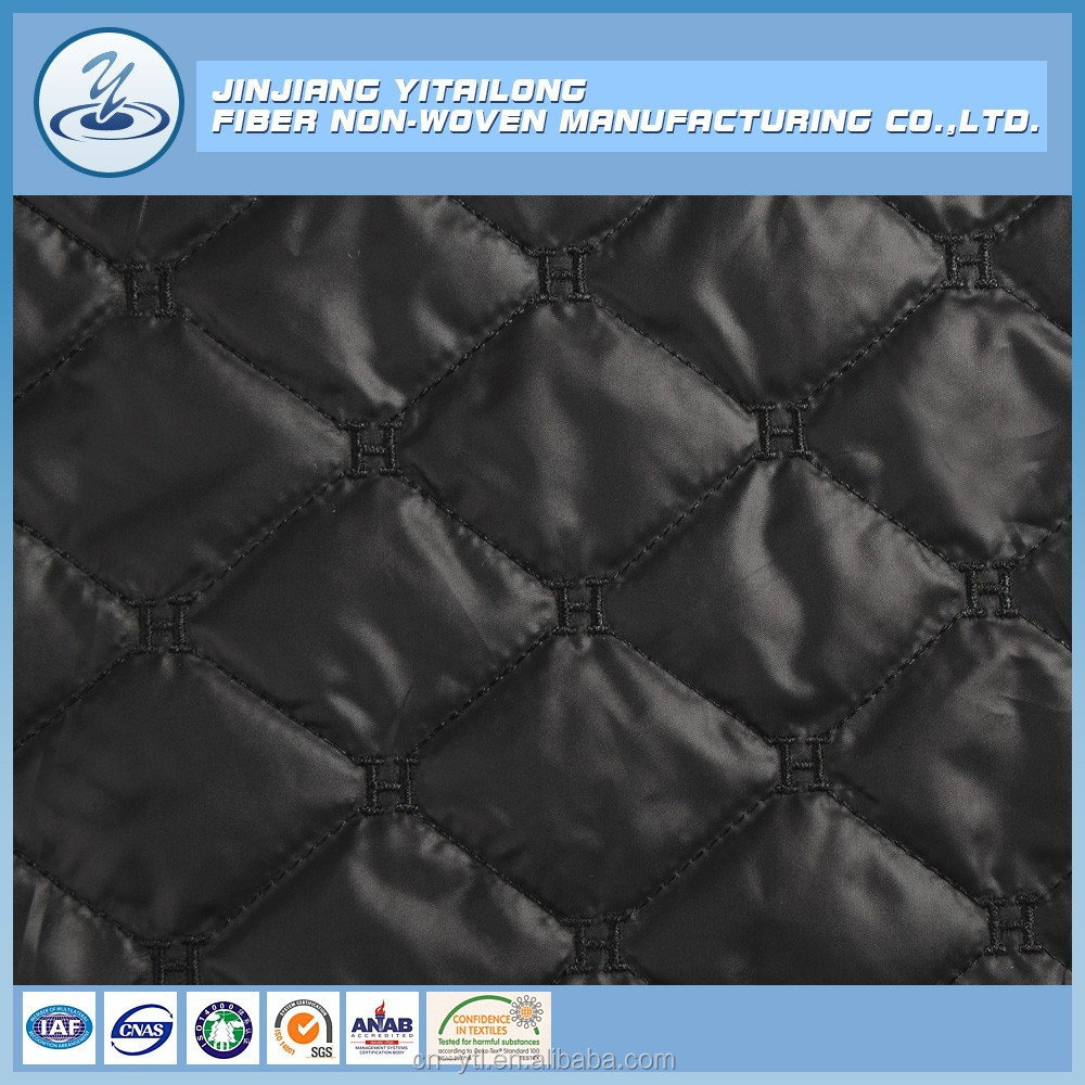 100% polyester /Quilting/ Embroidery/high quality quilted fabric/ Ultrasonic quilted fabric for jacket/coat