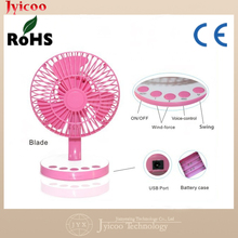 Hot selling colorful protable voice control rechargeable USB fan