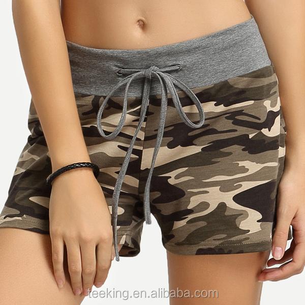 fashion high quality women sports camouflage shorts