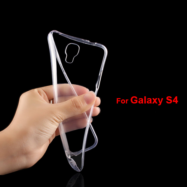 S4001 Factory Supplier 0.6mm Transparent TPU Cover for Samsung Galaxy S4 , Soft Cell Phone Case