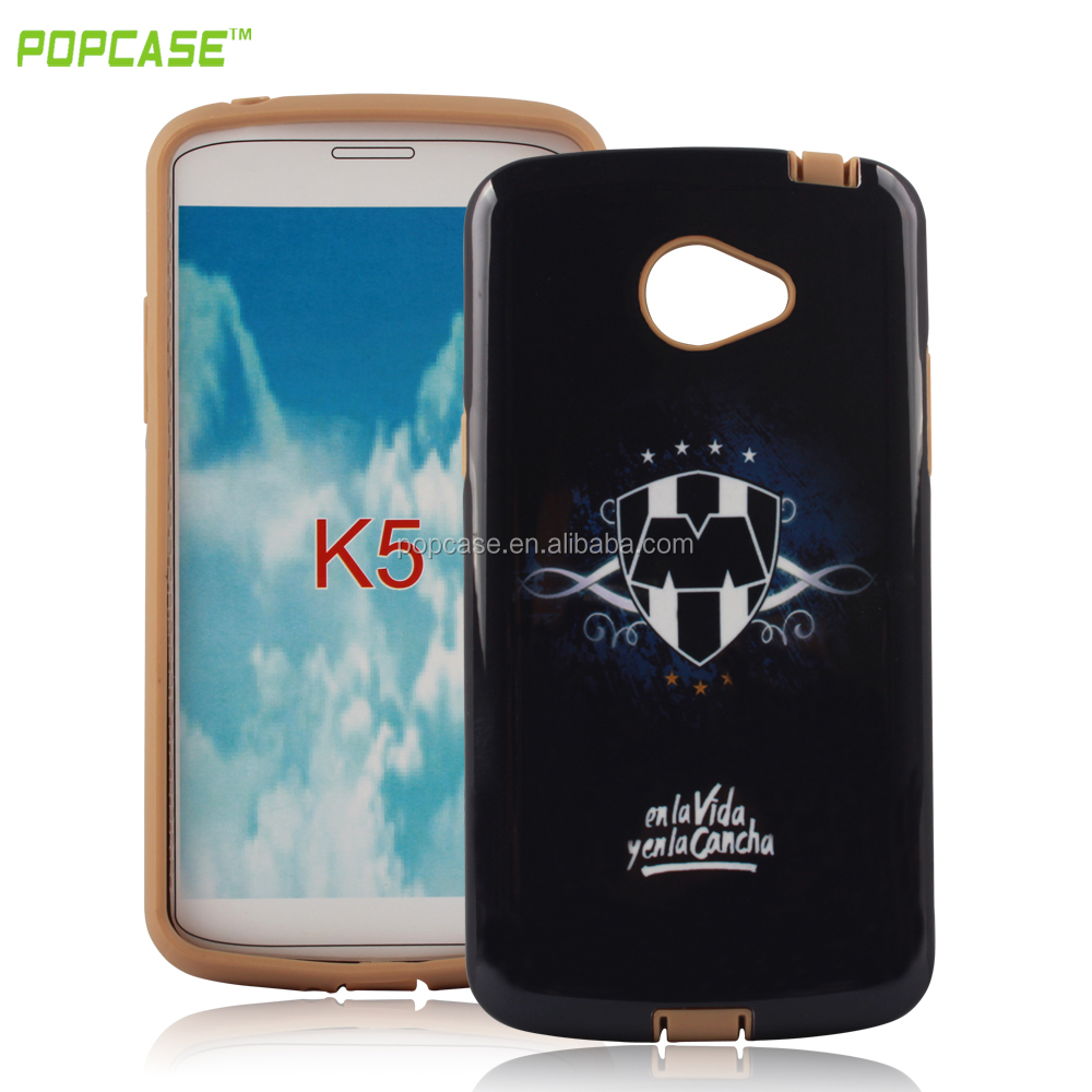pc tpu mobile phone case with printing for LG K5 case