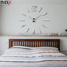 New products Acrylic 3d Sticker Wall Stickers Home Decor Large Mirror Wall Clock living room