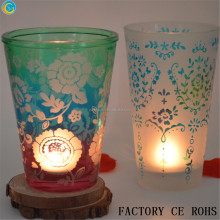 Online Flower Candle Holder / Glass Votive Holder/ Hurricane Jar For Wedding & Home
