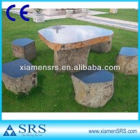 Natural black granite garden mushroom table