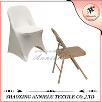 Cheap fancy wedding white folding spandex chair cover
