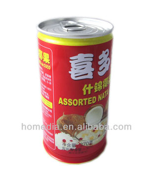 6122# 370g assorted nata de coco empty tin can